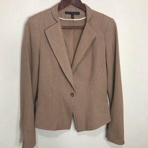 WHBM Pant Suit Set Camel Tan Slim Flare Size 4